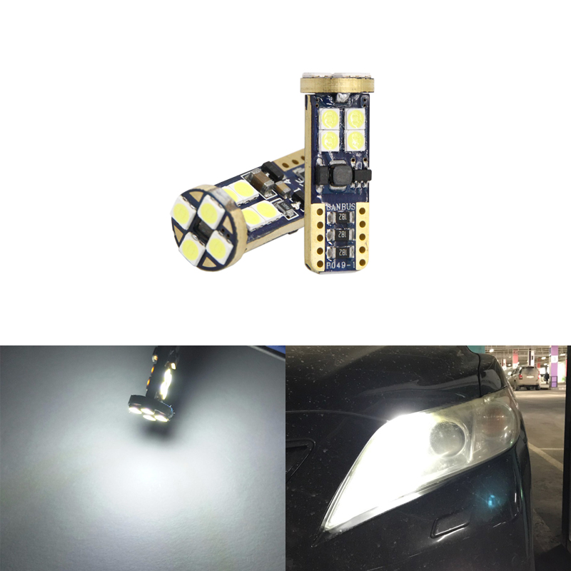 CAN-bus T10 W5W Led Car Parking Clearance Stop Light For Toyota Corolla Avensis Yaris <font><b>RAV</b></font>-<font><b>4</b></font> Auris Camry Prius Prado Hilux White image