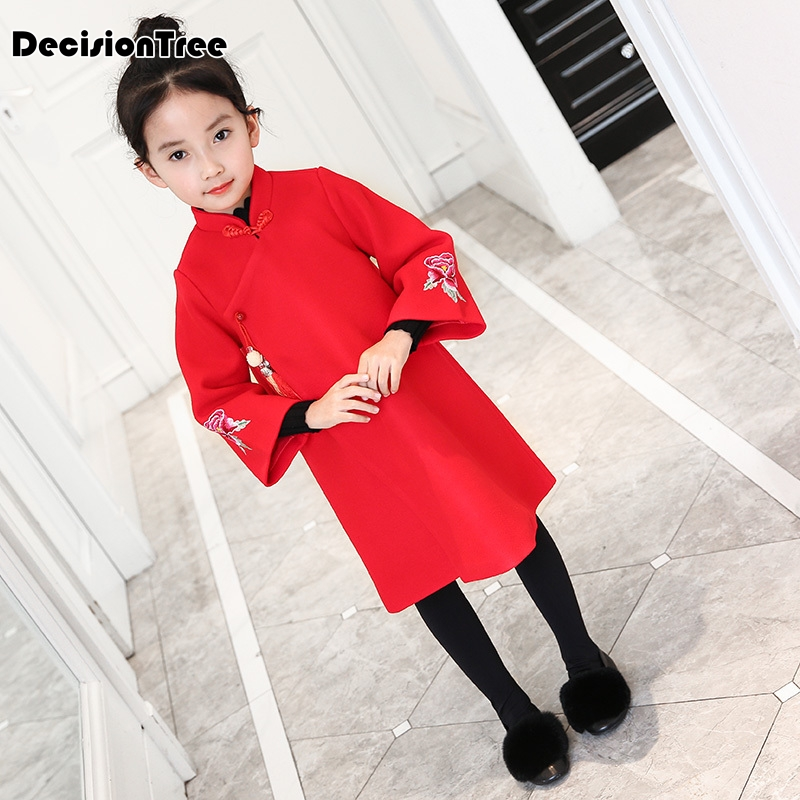 2019 new 2-9Y Girls Dress Costume Long Sleeve Baby Dresses Vestidos Party Qipao Children Clothing Flower Kids Clothes2019 new 2-9Y Girls Dress Costume Long Sleeve Baby Dresses Vestidos Party Qipao Children Clothing Flower Kids Clothes
