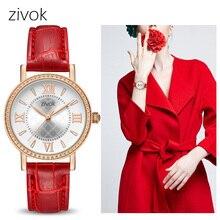 Zivok модные женские туфли Часы Relogio feminino красный любителей дамы кварцевые часы Для женщин часы час пару раз Девушка наручные Часы xfcs