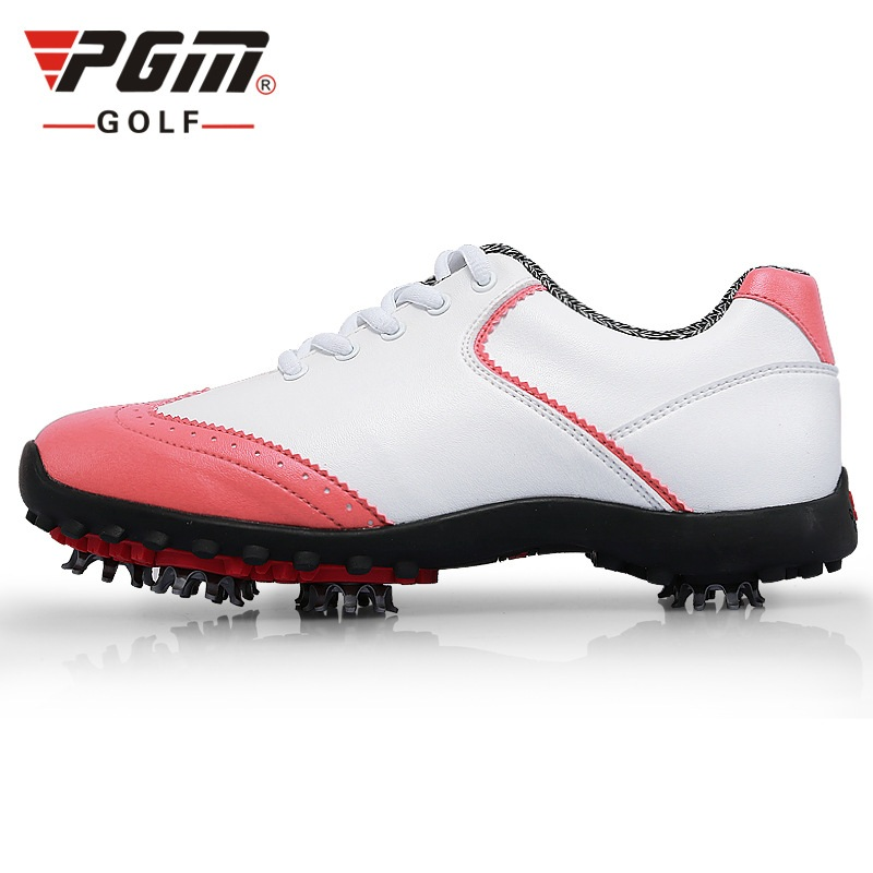 Pgm Women Golf Shoes Waterproof Anti-Skid Sneakers Breathable Outdoor Sports Shoes Lightweight Training Athletic Golf Shoe D0350