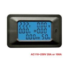 Voltmeter Ammeter AC 110V 220V 20A 100A AC Current Voltage Meter Watt