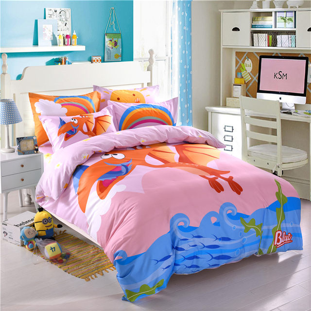 Cartoon Dinosaur Bedding Set For Kids Boys Children Twin Queensize Fit Sheet  Bed Sheet Set Duvet/Quilt Cover Pillow Shams