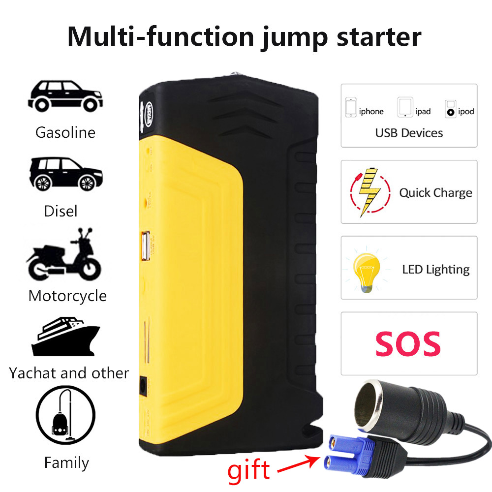 Emergency Car Jump starter Power supply New mini battery booster 12V Auto Motorcycle Starting Device Car Battery Booster Buster car jump starter power bank supply 12v 600a auto booster multifunctional emergency ignition for auto travel starting device