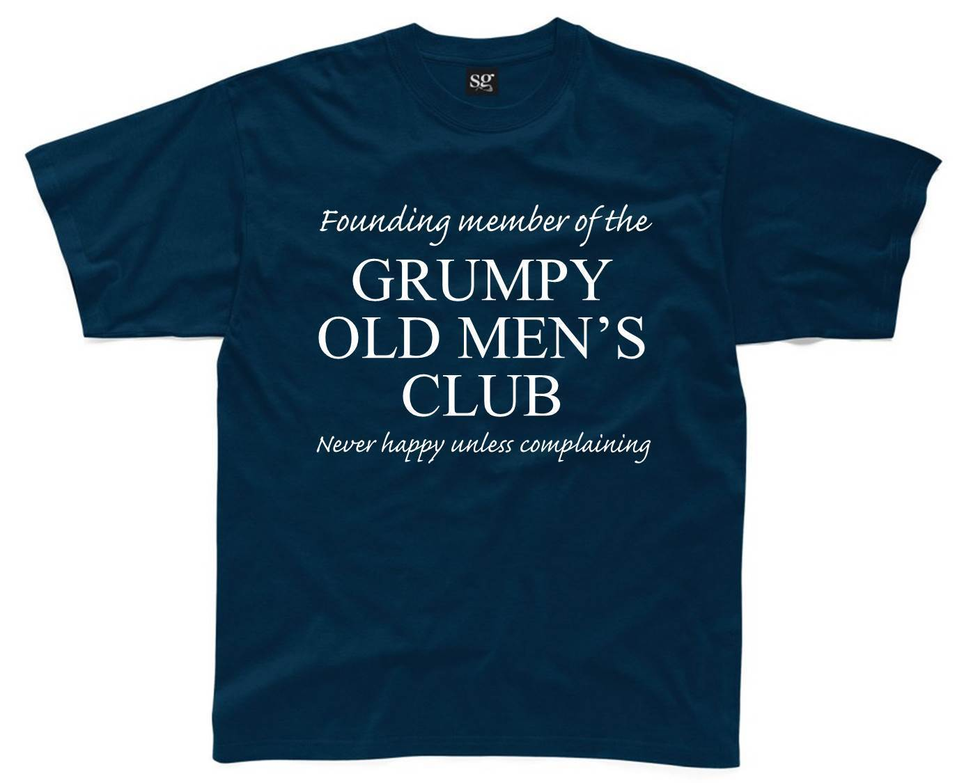 GRUMPY OLD MENS CLUB Mens T-Shirt S-3XL Funny Printed Joke Git Dad Fathers Day New T Shi ...