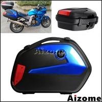 ABS Plastic Motorcycle Side Case 20L Cargo Box For Honda Yamaha Suzuki Kawasaki BMW Luggage Case Panniers LED Tail Box Universal
