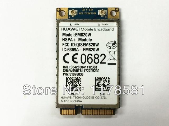 Desbloqueado HuaWei EM820W WWAN 3G GSM WCDMA HSPA + 21 Mb sobre EM820w Cartão GPS