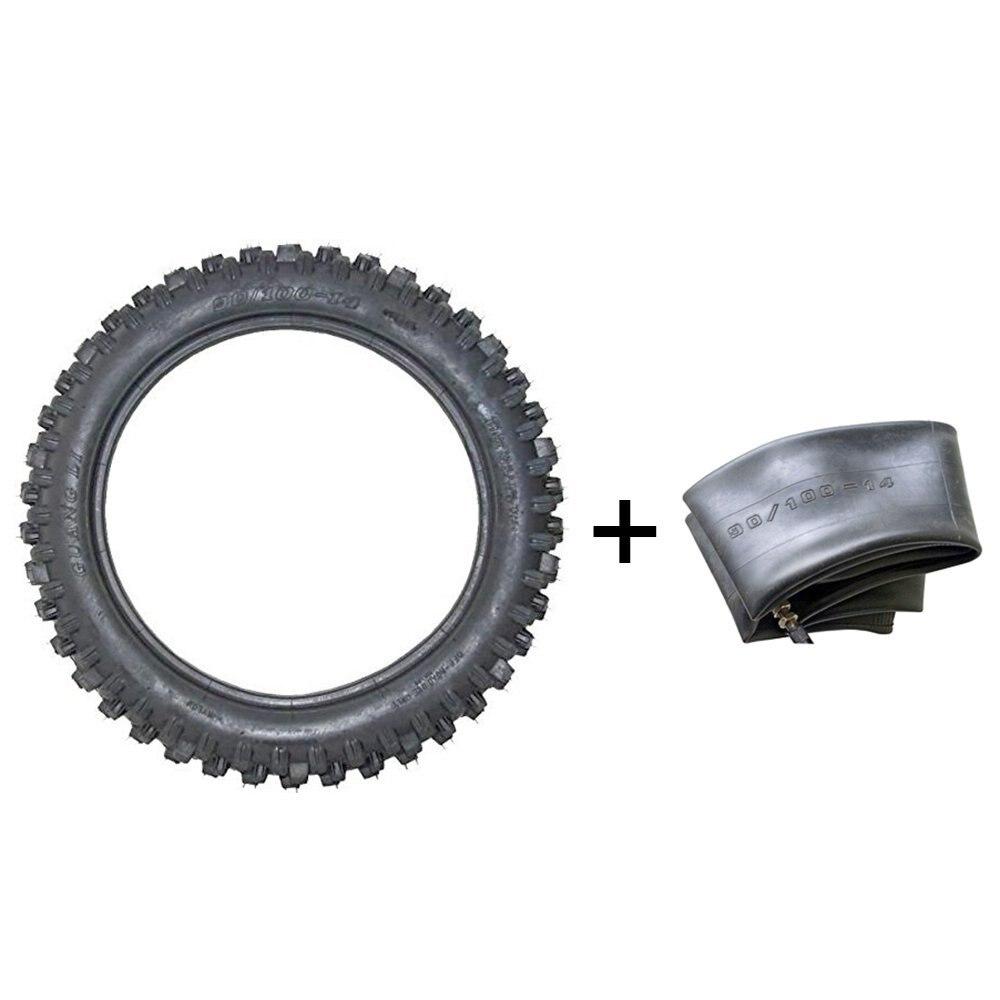 MYMOTOR Motocross Tire and Inner Tube kit 90 100 14 For Pit PRO Trail Dirt Bike