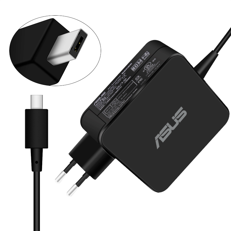 For Asus Notebook <font><b>19V</b></font> 1.75A 33W Micro-USB AC Power Charger For ASUS Eeebook X205 X205T X205TA E202 E202SA E205SA Laptop Charger image