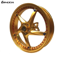 Universal 12 inch 5 mounting holes Aluminum Alloy Forging parts Motorcycle modified front wheel Rims For 260mm Single Disc Brake