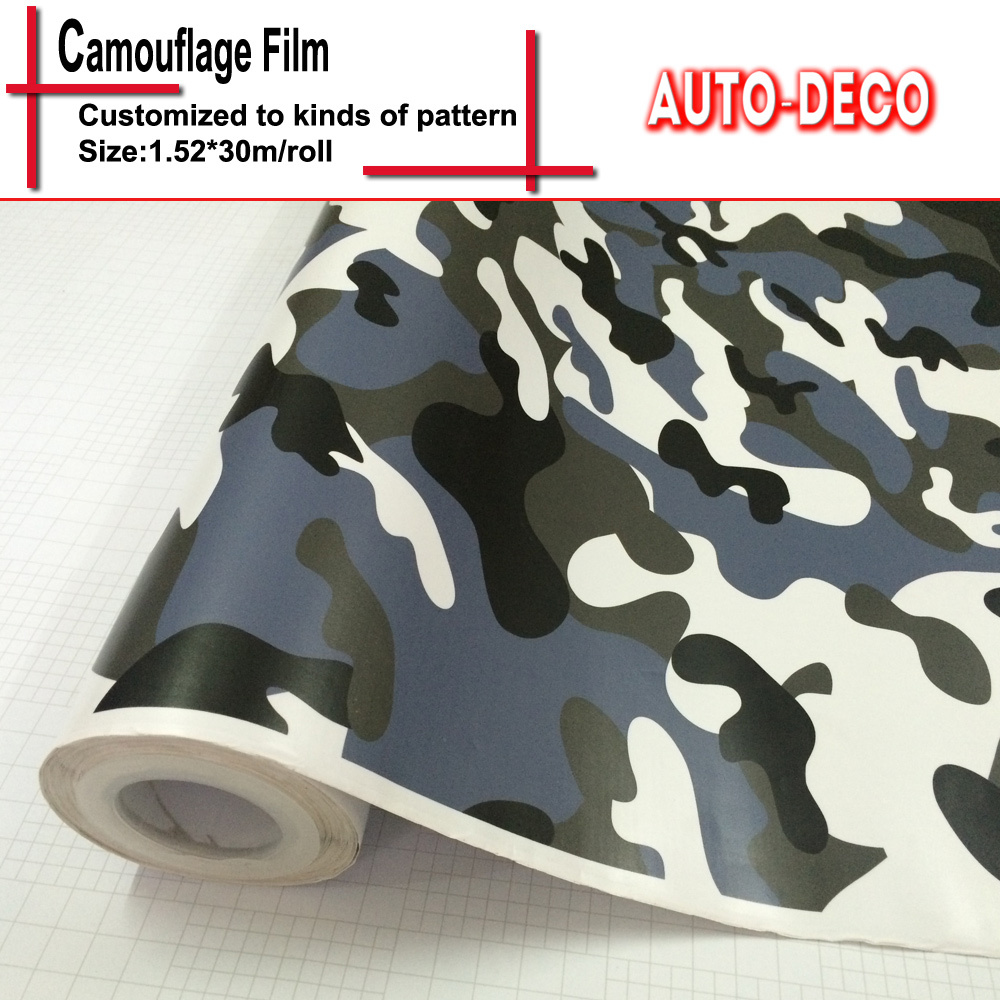 High Quality Camouflage Vinyl Sticker Bomb Wrap Car Color Change Rolls Sheet Foil With Air Drains FedEx Free Shipping 30m/roll