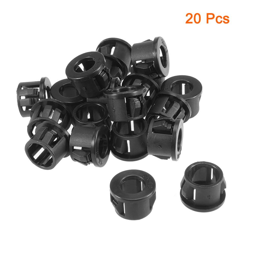 20pcs 19mm Mounted Dia Snap in Cable Hose Bushing Grommet Protector