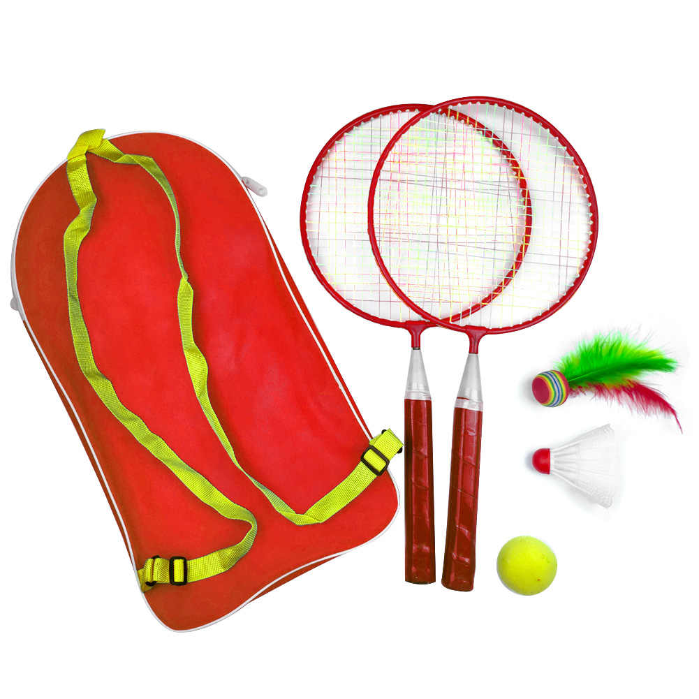 1 Set With Backpack Badminton Tennis Set Educational Badminton Racket Outdoor Games Child Sport With Shuttlecock Kid Baby