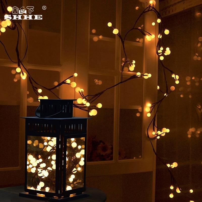US $22.48 41% OFF|Room Bedroom Decorations 20Leds String Light LED Twigs  Vines Lights Round Balls Christmas Decoration Lights-in LED String from ...