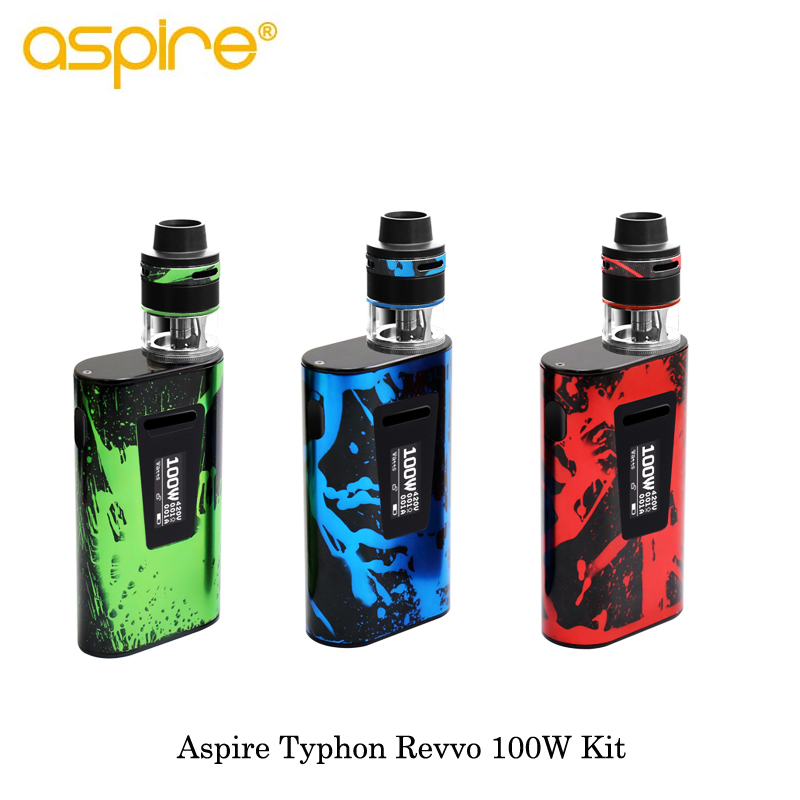 Electronic Cigarettes Aspire Typhon Revvo Kit 100W Typhon Revvo Box MOD Vape 5000mAh Battery with 3.6ML Revvo Tank with ARC Coil