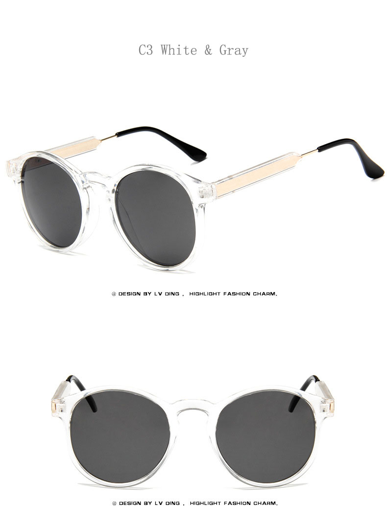 a446a2d06d EL Malus] gafas de sol con montura ovalada Retro para hombre, gris ...