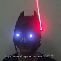 New Design Led Luminous Red Laserman Party Mask Illuminate Stage Performance Masquerade Red Laserman Show Mask