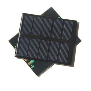 "Image 3 - שמש נייד Mini 0.5 W 2.5 V פנל סולארי BUHESHUI אפוקסי פנל מטען סולארי Polycrystalline פנל צעצוע DIY 58*70*3 מ""מ 2 יח\חבילה"