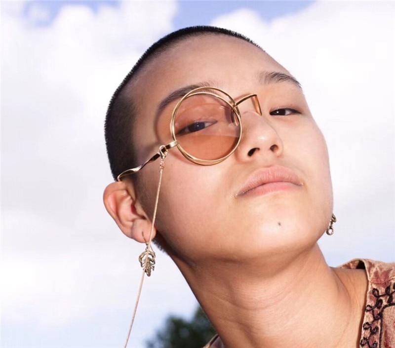 Cos Monocles Retro Steampunk Glasses Frames For Women Men 2018 Luxury Brand Fashion Chain Lolita Base Blame Thief Okulary