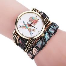 Feminine trend pirate Cranium rivet Bracelet Wrist watch Black