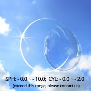 Image 2 - Radiation Protection 1.61 High Index Asphere Thin Clear Optical Lens HMC Anti UV Myopia Hyperopia Prescription Lenses 2Pcs
