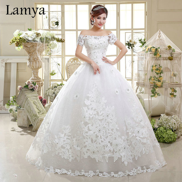 appliques wedding dress 2016 princess bridal gown vintage ball gown