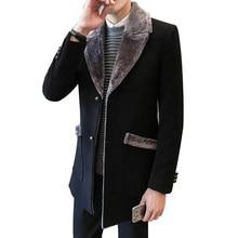 Winterjas Heren Trenchcoat.Fur Collar Trench Coat Men Koop Goedkope Fur Collar Trench Coat Men