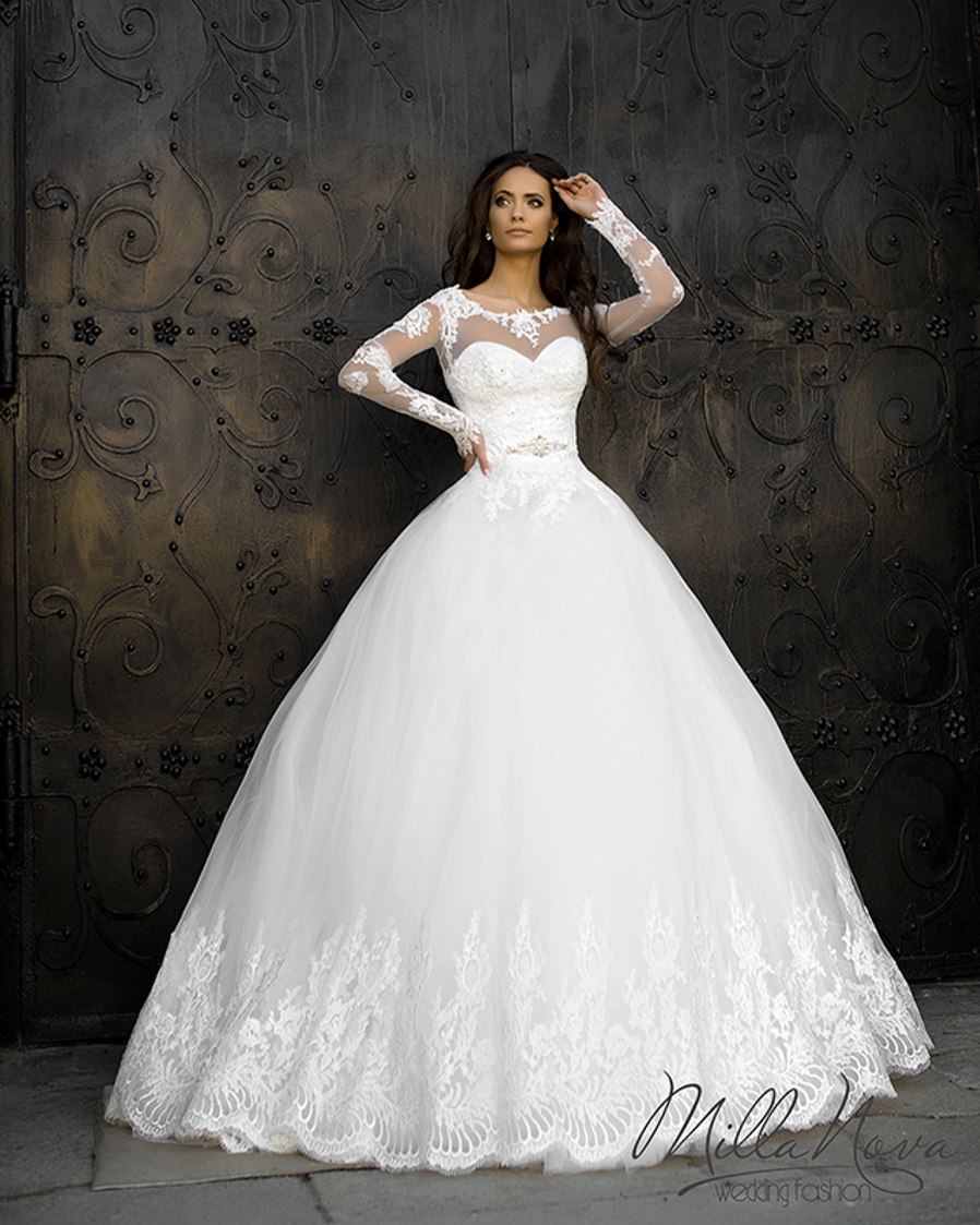Christmas wedding dress korean - Vestidos De Novia Bridal Gown Rustic Korean Vintage Long Sleeve Lace Wedding Dresses Ball Gown Princess