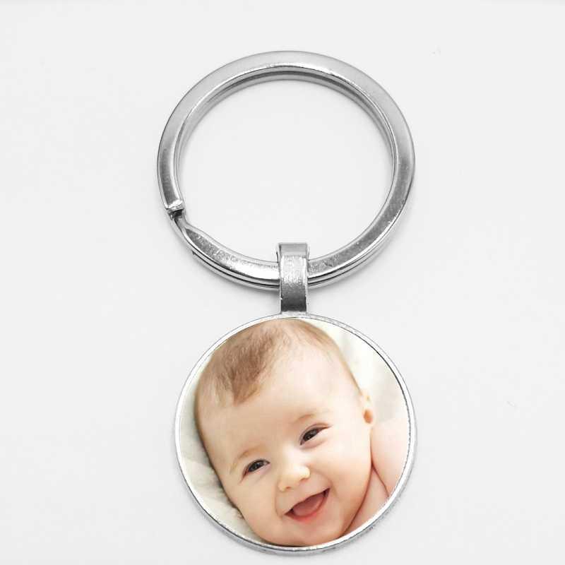 2019 feito à mão personalizado família bebê foto chaveiro logotipo da empresa clube de futebol emblema festa privada foto chaveiro personalizado