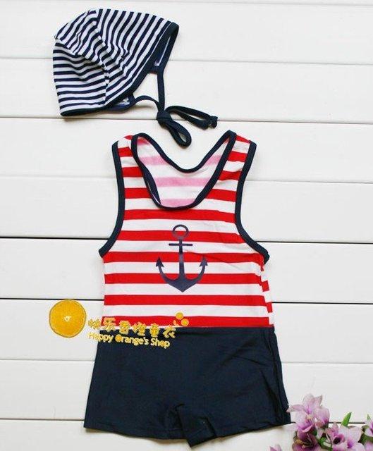2012 child boy's sailor designer swimwear,baby boy's spa swimsuit,beachwear,swimming clothes set