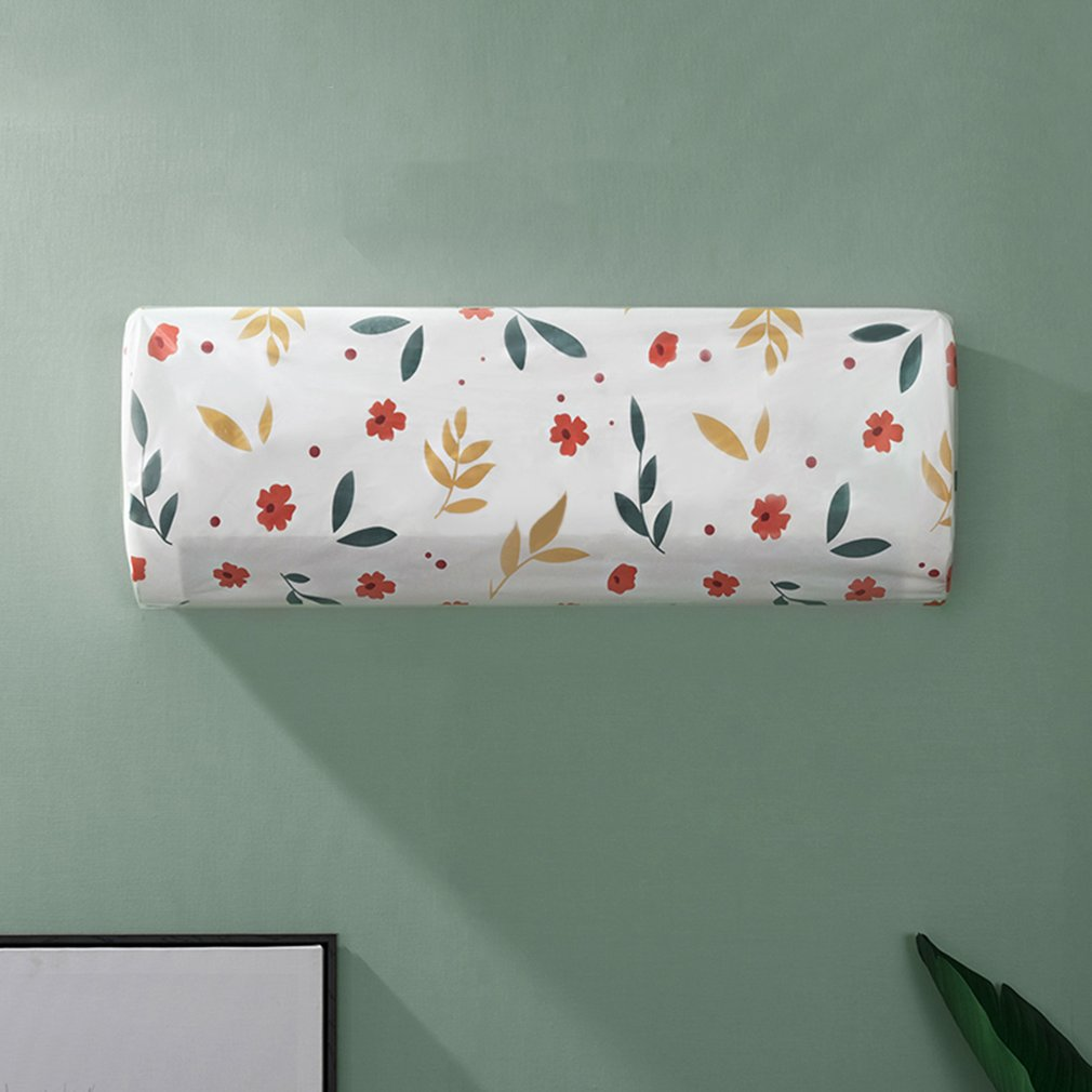 Floral/Geometry Printing Air Conditioner Cover Dust-proof and Waterproof Household Protective Bag Cleaning Tool