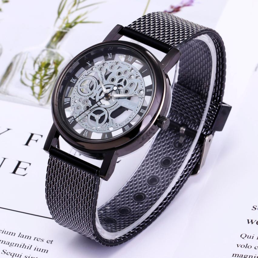 Fashion Business Watch Men erkek kol saati Quartz Luxury Wristwatch Stainless Steel Band Men Clock relogio masculino Gift #C relogio masculino men business watch leather wristwatch rose gold quartz watches mens 2018 ruimas classic clock erkek kol saati