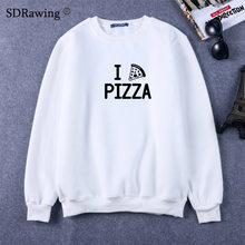 Funny Pizza print Sweatshirts Women Present Foodie Food Sweatshirts There's no We in Pizza Lover Geeky Nerd Geekery(China)