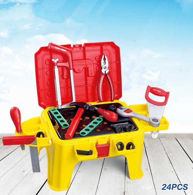 Горячие дети инструмент игрушки установить ролевая игра возможность разработка детям игрушки для мальчиков садовые инструменты Fix творческие развивающие косплей