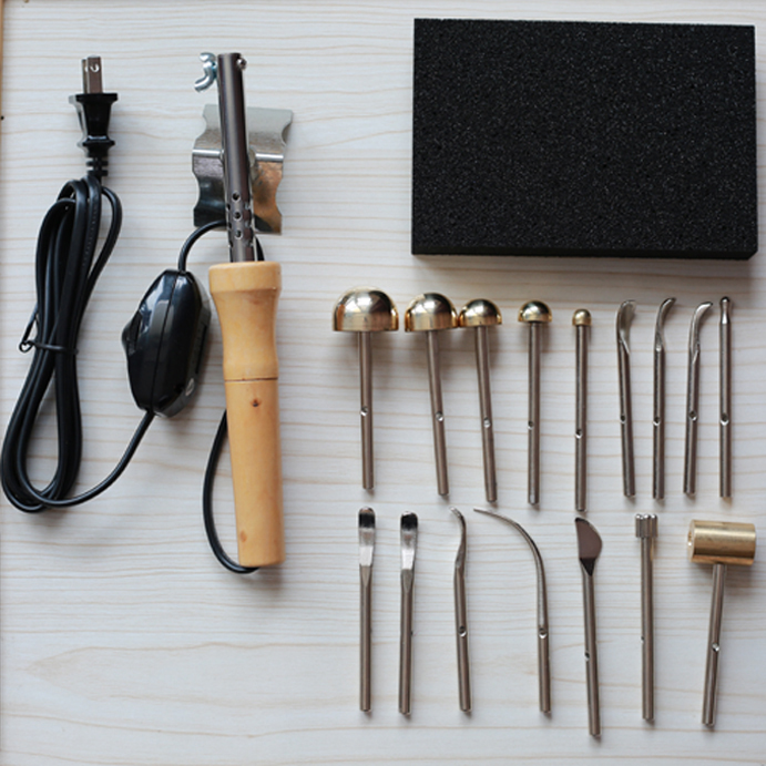 Cloth Fabric Flower Making Tools set 16 heads Soldering iron with power control