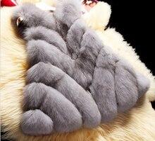 New 2016 Winter Coat Women Import Whole FAUX Fur Vest High-Grade Faux Fur Coat Leisure Shitsuke Women Coat Size:S-XXXXL