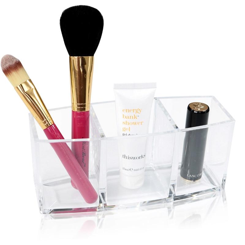 Acrylic Makeup Organizer Cosmetic Holder Makeup Tools Storage Box Caixa Lipstick Orangnizer and Brush Container