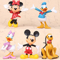 5pcs/set Mickey Mouse Clubhouse Minnie Mouse  Donald Duck  hand office earners ornaments toys gift