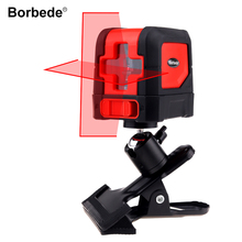 Borbede Laser Level with 2 Red Cross Lines Self-Leveling Adjustable Portable Mini
