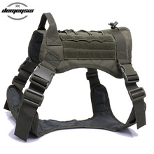 High Quality 1000D Nylon Outdoor Hunting Dog Vests Adjustable Military Tactical Molle Vest Training Harness
