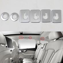 Стайлинга автомобилей интерьера заднего сиденья Купол Чтение свет лампы крышка декоративная рамка 6 шт. для Audi Q7 4 м 2016 2017 2018 Q5 FY 2018 2019
