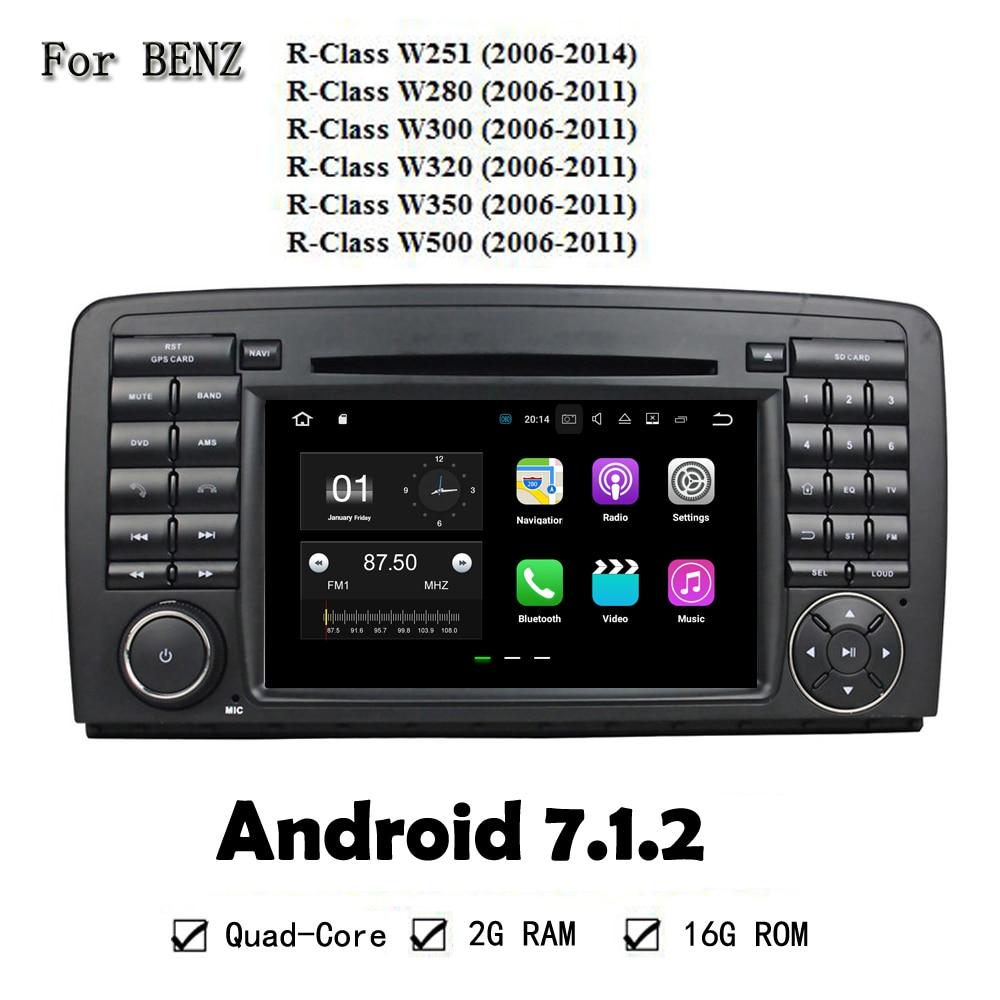 7 Inch Android Cortex A9 Quad Core 2G RAM Car GPS Navigation Car DVD Player Head Unit For Benz W251 W280 W300 W320 W350 W500
