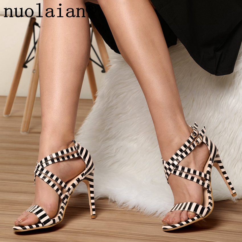 Women Sandals Summer Sexy High Heels Sandal Womens High Heel Shoes Ladies Pumps Gladiator 34-43 Open Toe Woman Summer Shoes цена