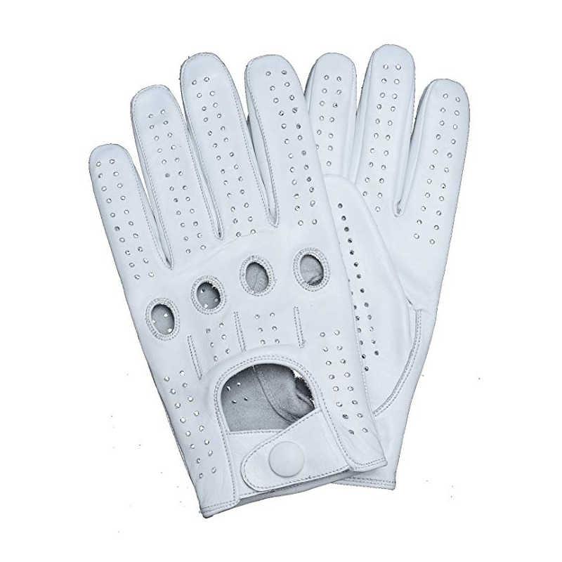 新到着メンズ手袋ゴートスキン革乗馬駆動手袋フル指裏地なしスリップミトンのための男性の本物の革手袋
