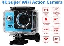 1080 P Спорт WiFi Камера 4 К цифрового видео Камера 30 м водонепроницаемый HD видеокамера 2.0 'Экран