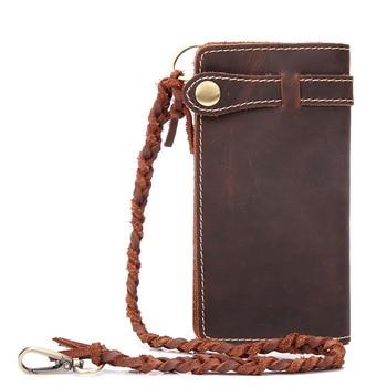 2018 Men Wallets Male Genuine Leather Long Wallet with coin pocket Coin Purse Men Zipper Phone Portomonee Card Holder