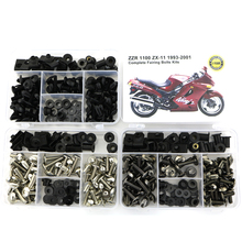 For Kawasaki ZZR1100 ZX-11 1993-2001 Motorcycle Complete Full Fairing Bolts Kits Screws Steel Bodywork Speed Nuts Covering Bolt full fairing kits red black zzr 1100 90 93 94 95 96 97 98 99 00 01 full fairing kits for kawasaki zzr1100 zx1100 1990 2001
