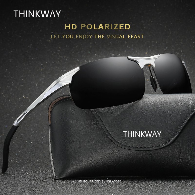 THINKWAY YHD043 High quality sunglasses men polarized sunglasses women sun glasses gafas de sol UV400 Lens with glasses case