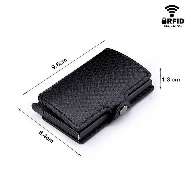 Tarjetero RFID de Fibra de Carbón