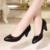Classic Naturaleza Mujeres Zapatos de Cuero 5 cm Med Pico de Tacón Alto calidad de Deslizamiento en Los Zapatos Clásicos Zapatos de Oficina Zapatos de Las Muchachas Blanco bombas
