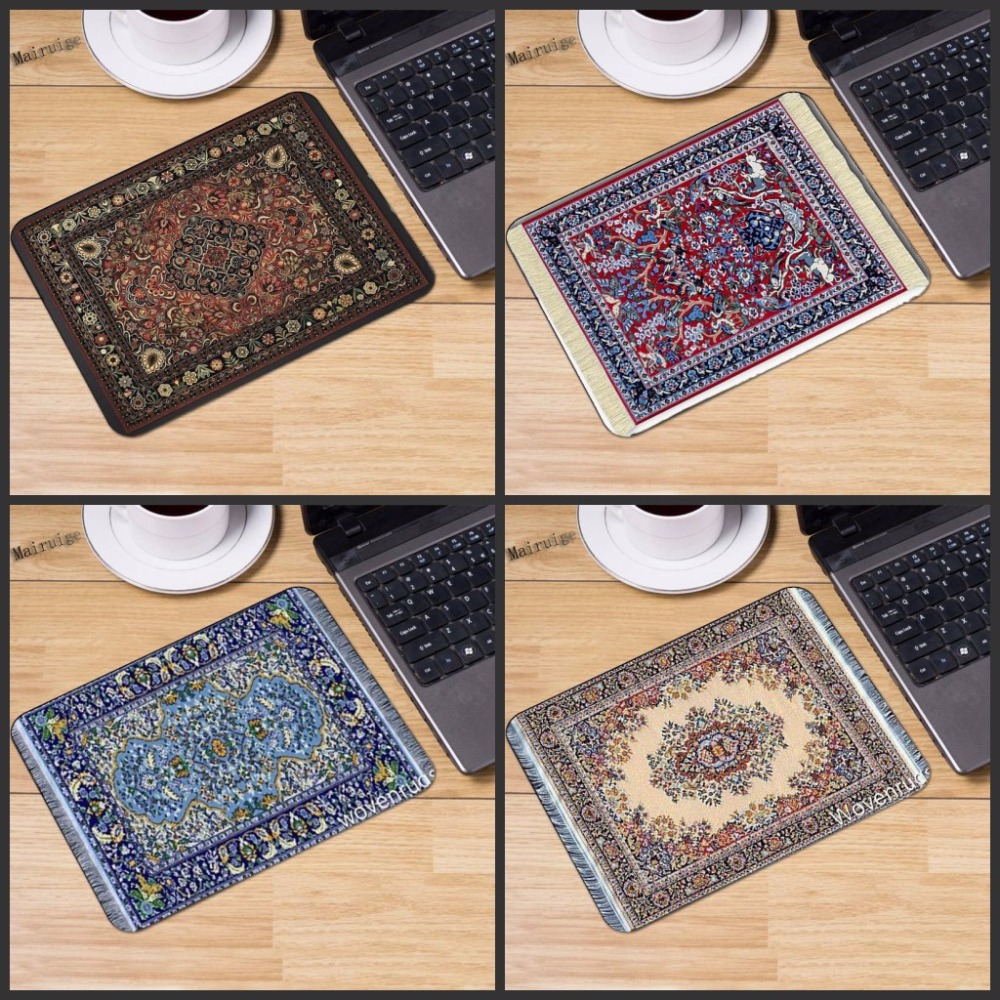 Mairuige Persian Carpet Customized Rectangle Non-Slip Rubber 3D Printing Gaming Durable Notebook Mouse Pad Size 180mmx220mmx2mm